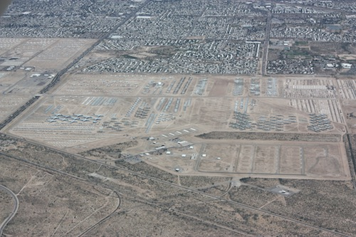 Parking of the Davis Monthan Air Force Base