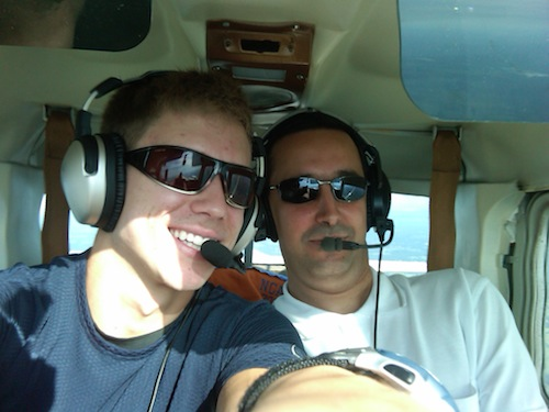 Two pilots in a Cessna 150