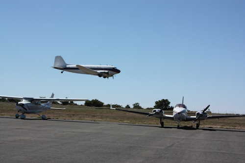 DC-3 Low pass over Catalina Island